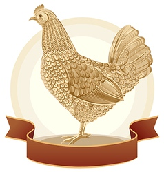 Graphical chicken vector image