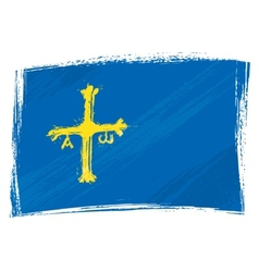 Grunge Asturias flag vector image