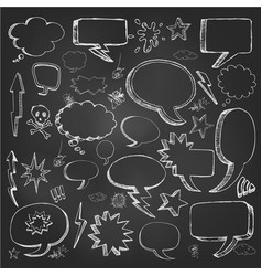 hand drawn sketch speech bubble vector image