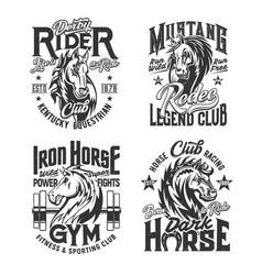 Horse stallion mascot t-shirt print vector