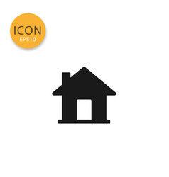 house icon isolated flat style vector image