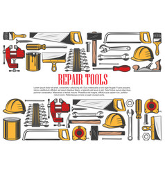 house repair tools and equipment vector image