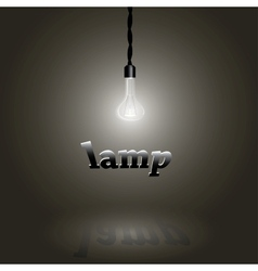 Image of a lamp vector