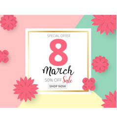 international happy womens day 8 march holiday vector image