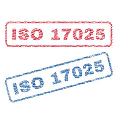 Iso 17025 textile stamps vector