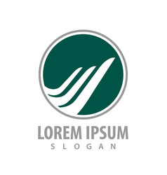 logo concept design green circle wing symbol vector image
