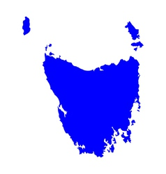 Map of Tasmania vector