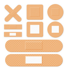 medical patch adhesive bandage set of elastic vector image