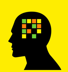mind concept graphic for memory loss or amnesia vector image