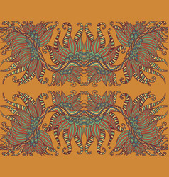 mystic tribal shamanic ethnic floral pattern vector image