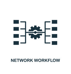 Network workflow icon monochrome style design vector