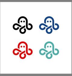 Octopus logo kraken icon line art outline vector