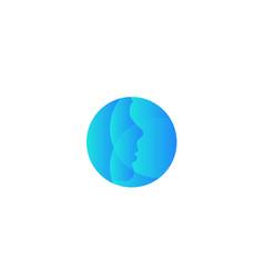 Plastic surgery company round logo vector
