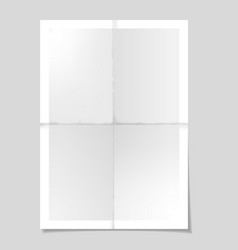 poster template folded paper sheet vector image