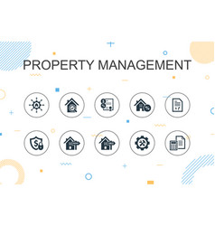 Property management trendy infographic template vector