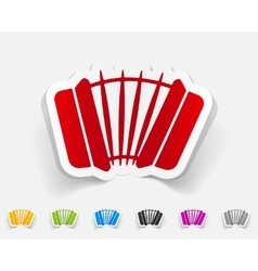 Realistic design element accordion vector
