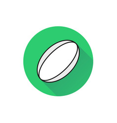 rugby ball icon on white background vector image