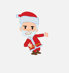 santa claus shows very angry something to his left vector image