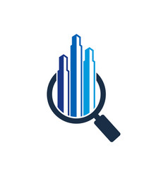 Search real estate logo icon design vector
