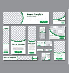 Set of horizontal vertical and square web banners vector
