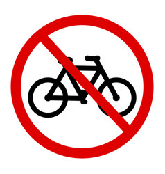 Sign no bicycle vector