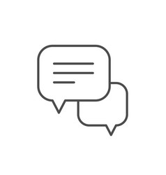speech bubbles line outline icon vector image