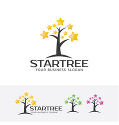 Star tree logo vector