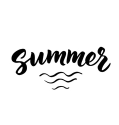 Summer hand drawn brush lettering vector