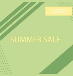 summer sale geometric ad vector image