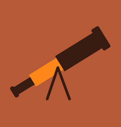 telescope flat icon education and astronomy vector image
