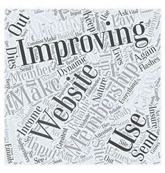 Tips on Improving Your Membership Site Word Cloud vector