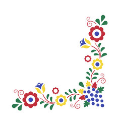 traditional folk ornament moravian ornament vector image