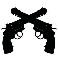 Two heavy revolvers vector