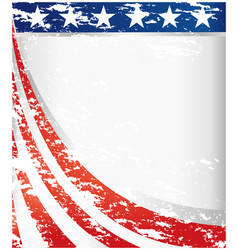 usa flag retro background frame vector image