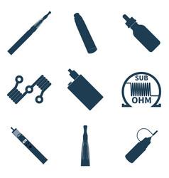 vape icons elements set vector image