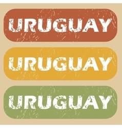 Vintage uruguay stamp set vector