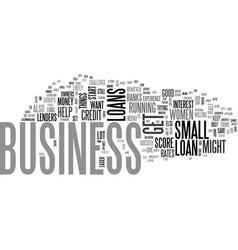 Women business loans text word cloud concept vector