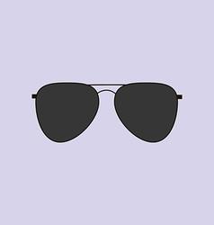 Aviator Glasses Icon vector image