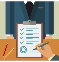 Business agreement concept vector image