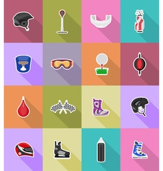 sport flat icons 38 vector image vector image