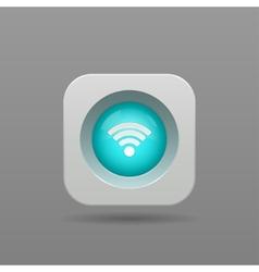 Wi-fi button vector image vector image