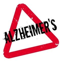 Alzheimer rubber stamp vector