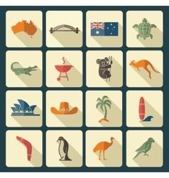 Australian icons vector image vector image