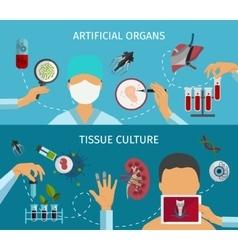 Biotechnology Banner Set vector image vector image