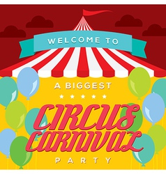 Circus Carnival Poster Template vector image
