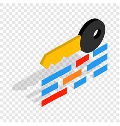 data protection isometric icon vector image