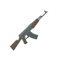 russian assault rifle cartoon vector image vector image