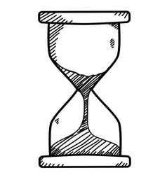 sand clock doodle vector image