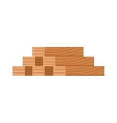 Stack of nine wooden logs firewood lumber tree cut vector image
