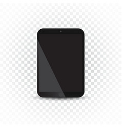 tablet with white screen flat icon computer on vector image vector image